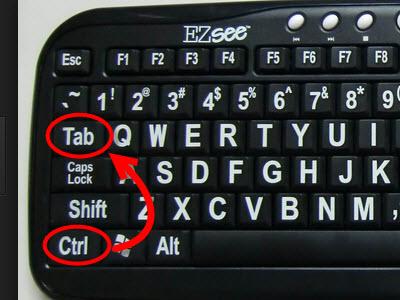 вариант - ctrl + tab